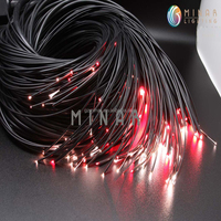 high quality 14cores 0.75mm multi strands end glow fiber optic cable for decorate lighting