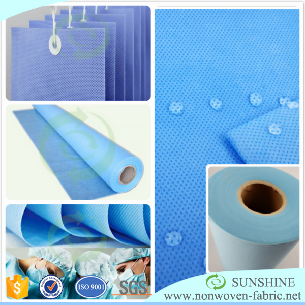 Medical hospital blue PP Protective cloth/SMS SMMS Nonwoven/PP Nonwoven fabric waterproof top quality