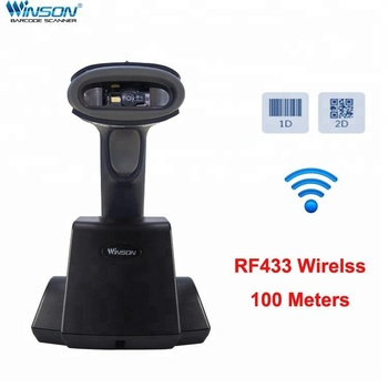 Wireless Barcode Reader / Mobile Pos Handheld 2D RS232 barcode Scanner with New Design