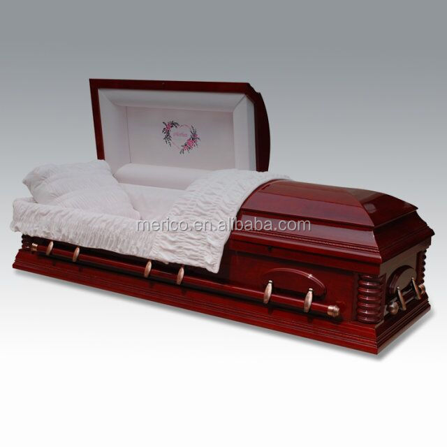 FEMALE ESTHER CHERRY german style casket coffin for chile