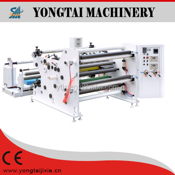 auto wet tissue non-woven rewinding and slitting machine