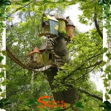 China manufacturer make imitated decorative artificial tree house for outside lake