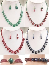Set of 4 Ruby,Emerald,Necklaces at Wholesale Price in Chicago