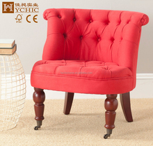 High Quality sofa material antique chaise lounge solid wood furniture living room