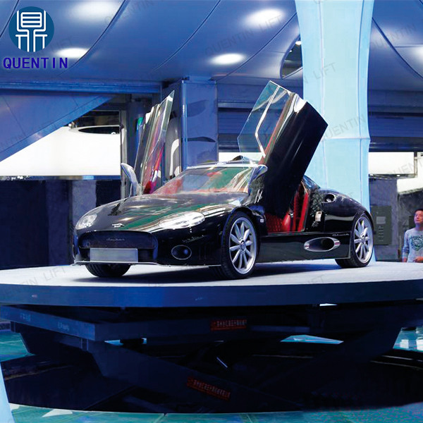 Auto show heavy duty hydraulic rotating stage lift table