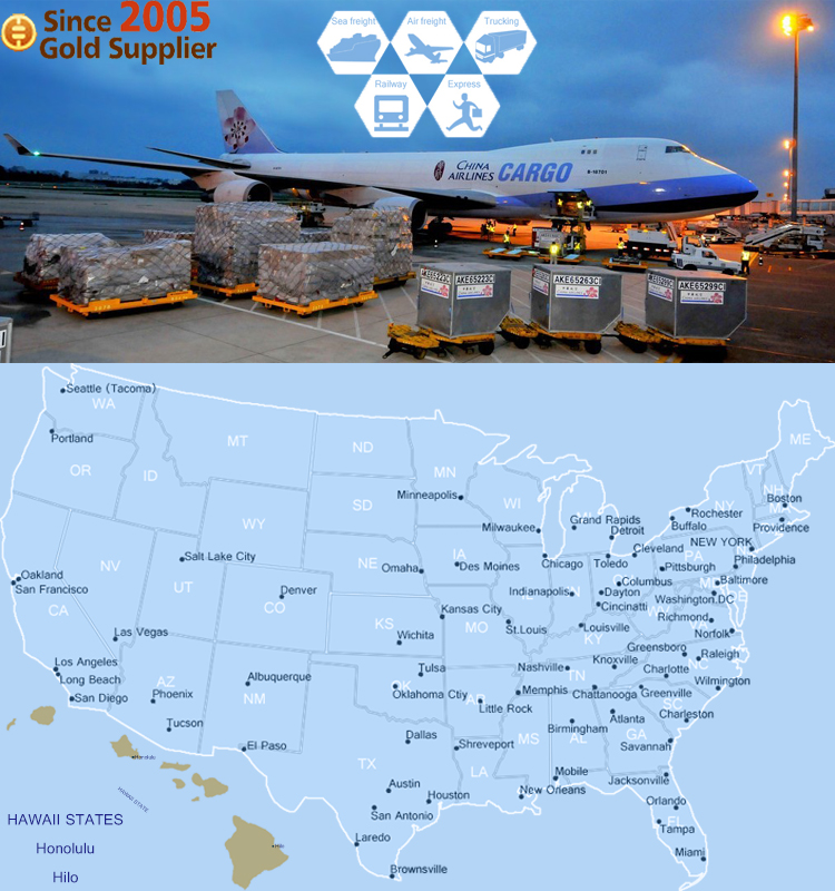 Air Freight Cargo Consolidation Shipping to New Jersey, US