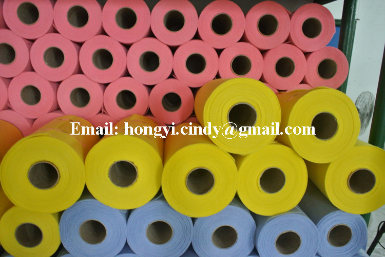 Viscose/polyester super absorbent needle punched nonwoven perforated tear-off all purpose cleaning cloth rolls