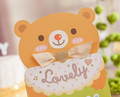 beautiful lovely bear baby birthday,shower party invitation card