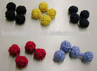 Ball Silk Knot Cufflinks Manufacturer Barrel Silk Knots Cufflinks