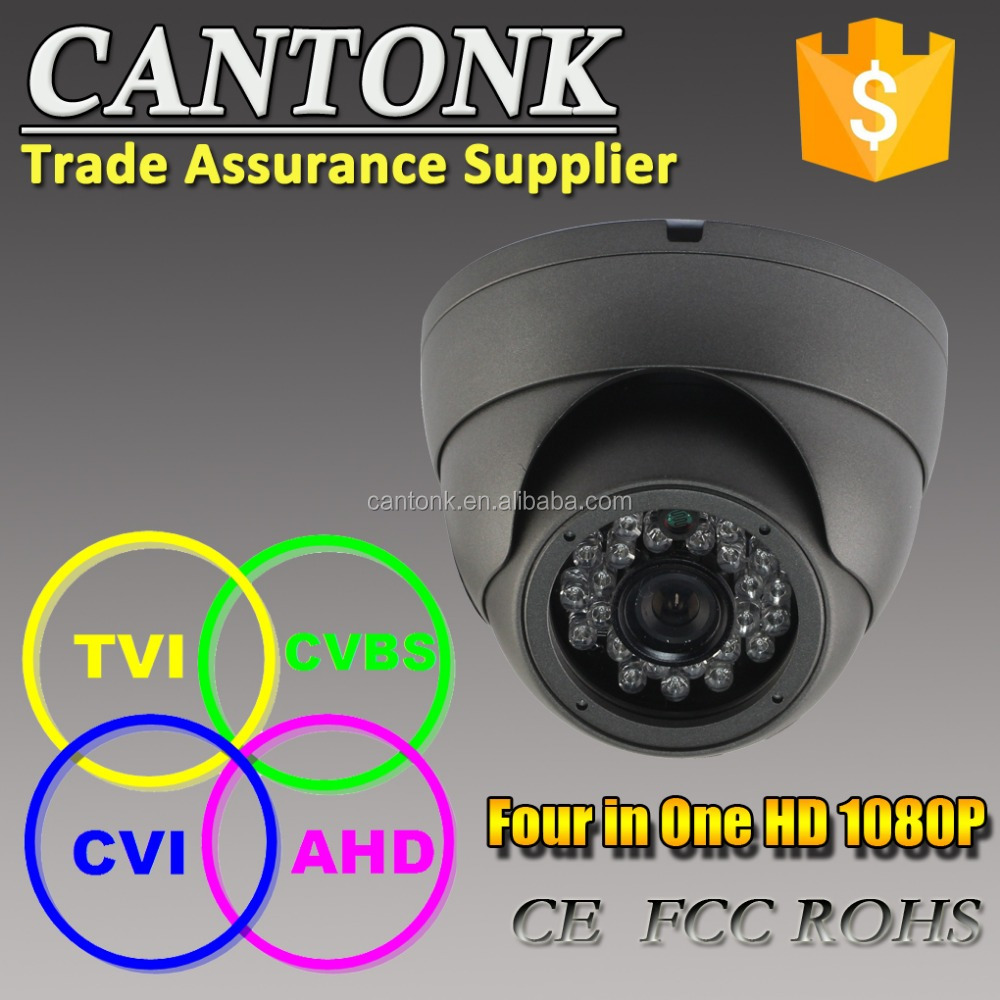1080P HD 2MP Surveillance Camera Hybrid 4 in 1 Camera with CE,FCC,RoHS Security Camera Certificates