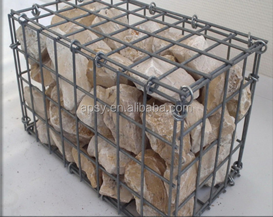 0.5mX0.5mX0.5m Galfan Gabion basket welded Gabion bridge support