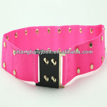 FASHION RED STUD ELASTIC CROSET