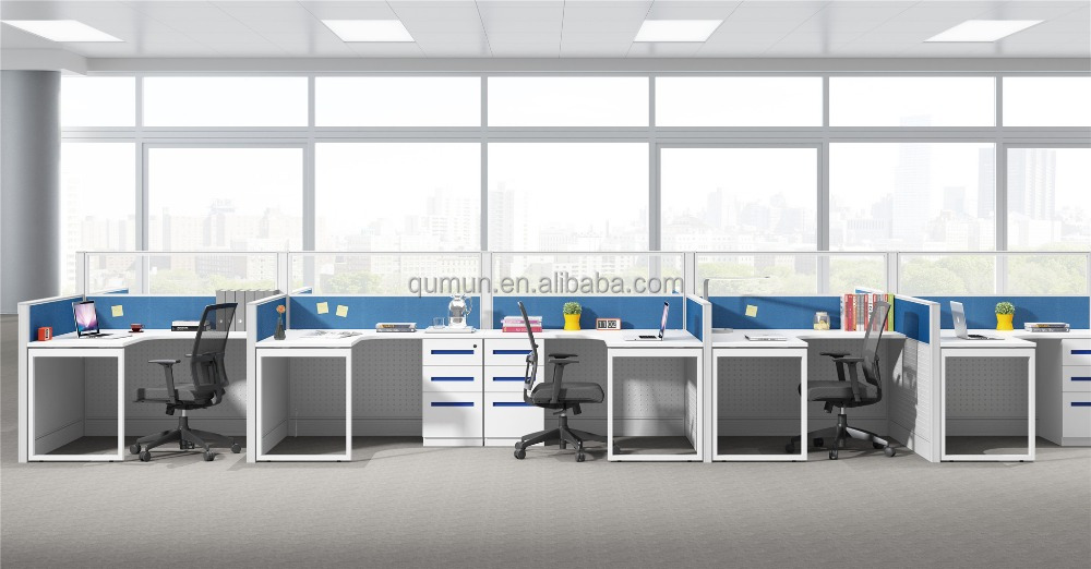 Modern design high quality partition workstation colorful tabletop Office furniture