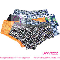 2014 fashion womens full cut panties mix pattern full sizes about 0.3 USD women boyshorts panties for wholesale 120pcs/lot