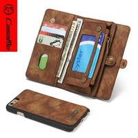 PU Leather Stand Flip Smart phone Case For iPhone 6, wallet style phone cover for iphone 6 with card slot