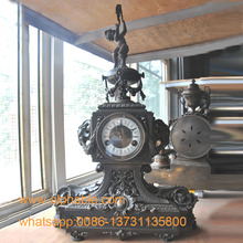 French Style Antique Brass Table Clock CC-096