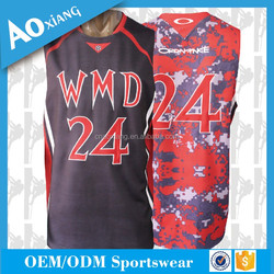 latest design youth men cool basketball jersey with team name and number