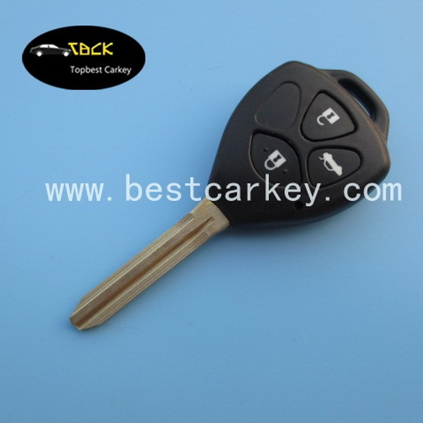 3 button car remote key smart key 315mhz for Toyota Carola key with 4D67 chip