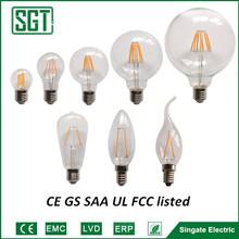 2016 popular CE RoHS SAA UL approval filament A60 A19 led dimmable bulbs