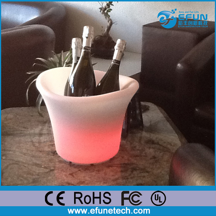 remote control light up bottle ice bucket illuminated color party tub with light