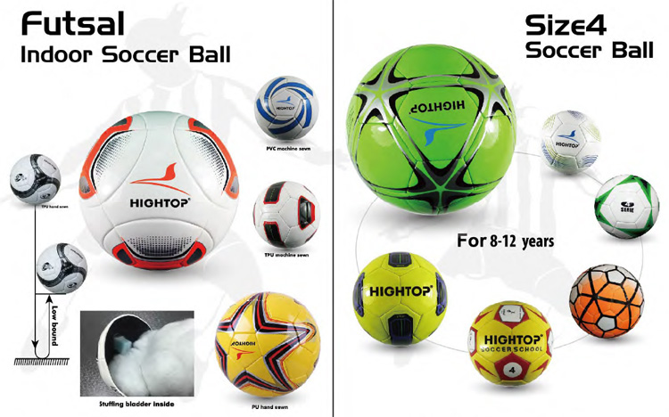 PVC / Super Fiber Material Laminated Soccer Ball Thermal Bonded