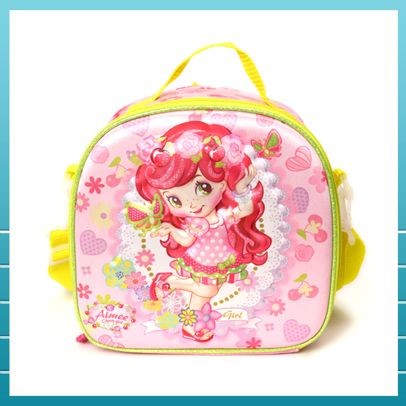 2017 Hot promotion EVA 8D polyester child school bags with LED