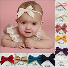 Head Bands For Baby Girls Elastic Hair Bands Bowknot Headband