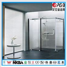 Polished Frame Surface Finishing and 8mm Glass Thickness two person shower room