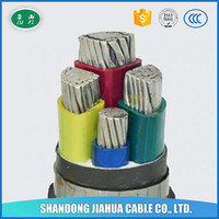 LUXI VLV22 cable PVC Insulation Aluminum Core Low voltage Electric Power Cable With Steel tape armor