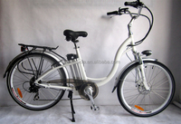 warehouse 26 inch alloy material 6 speed city style electric bicyclc/ e bicycle