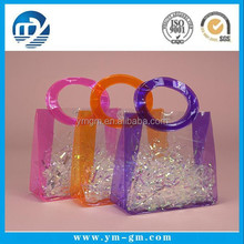 Hot sale vinyl pvc gift bag with handle