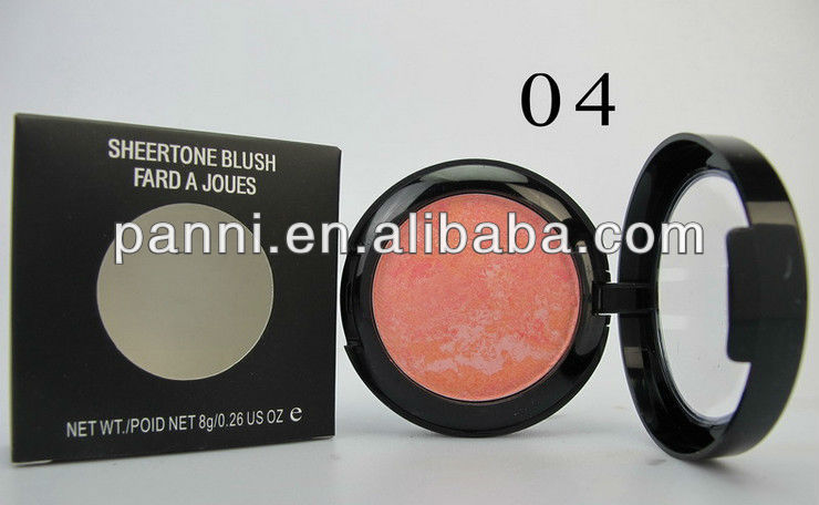 New products single color cosmetic blusher .