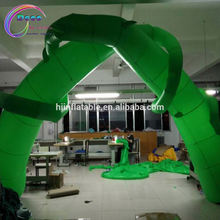new inflatable simulation of plant green color arch outdoor