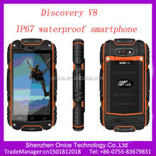 ip67 mobile phone waterproof Discovery V8 Android 4.2 MTK6572W IPS screen 512mb 512mb rom dustproof Shockproof ip67 android