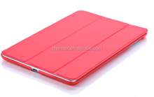 2016 New product Three Folding Flod Flip Tablet Cover For Ipad air 2 Leather Case