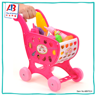 Super Quality Toy Food Shopping Cart Baby Kitchen Set