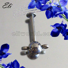 316L Surgical Steel Lip Piercing Jewelry Labret with Steel Ball