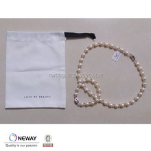 2015 protective cotton bag for pearl necklace,protective calico bags for bracelet,pouch dust bag for jewelry
