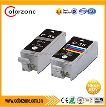 Compatible canon pgi-35 cli-36 printers ink cartridges,use in canon PIXMA ip100 series printer