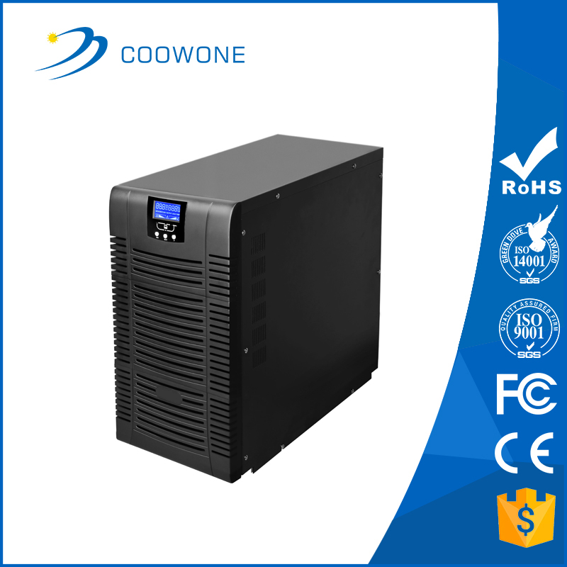Uninterrupitable power supply system high efficiency online single phase 10kva UPS for bank hotel database computer