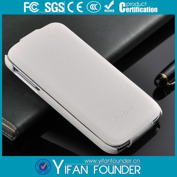 OEM blank leather phone cases/Sublimation Leather Flip Cover for Samsung s4
