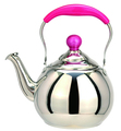 LTK237NC Stainless Steel Whistling Tea Kettle Water Kettle With Color Handle