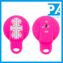 Facttory Wholesale Exclusive Colorful Silicone Car Remote Key Cover Case For BMW MINI COOPER F55 F56 one fun