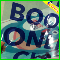 Custom transparent static film window sticker without glue