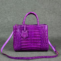 Crocodile mini bag_crocodile cross body bags_exotic bags#purple#luxury bags#shiny
