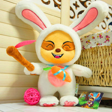 cartoon lovely small white rabbit stuffed <strong>toy</strong> for valentine's day gift
