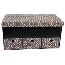 Extra Large Storage Ottoman Bench with Drawers