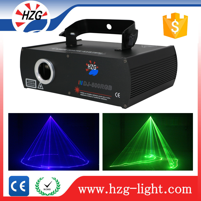 Hanging stage lighting equipment 500MW RGB portable dj stage dj laser lights sound system for disco