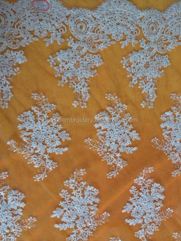2014 bridal lace fabric wholesale/manufacturer in guangzhou