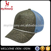 Fashion trucker cap with plaid gold sequins